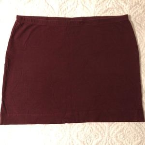 H&M wine burgundy basic stretchy cotton mini skirt